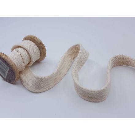 20mm Baumwollkordel flach-geflochten, ecru