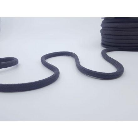 8mm Baumwollkordel rund-geflochten, dunkelgrau
