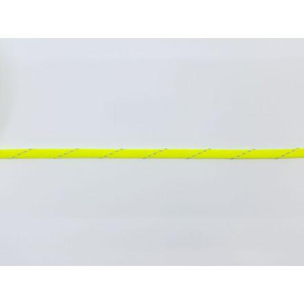 9mm reflektierende Polyesterkordel flach-geflochten, neongelb
