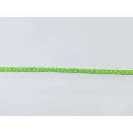 9mm reflektierende Polyesterkordel flach-geflochten, neongrün