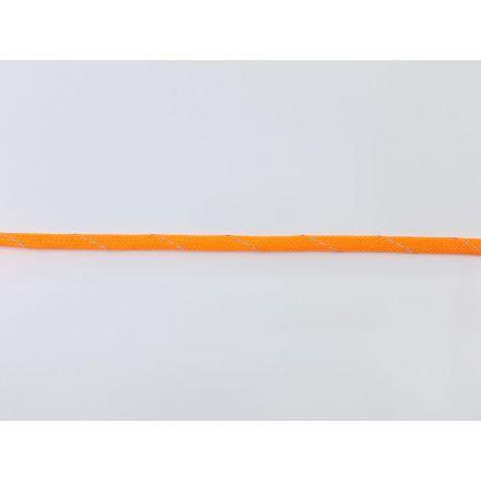 9mm reflektierende Polyesterkordel flach-geflochten, neonorange
