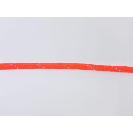 9mm reflektierende Polyesterkordel flach-geflochten, neonpink
