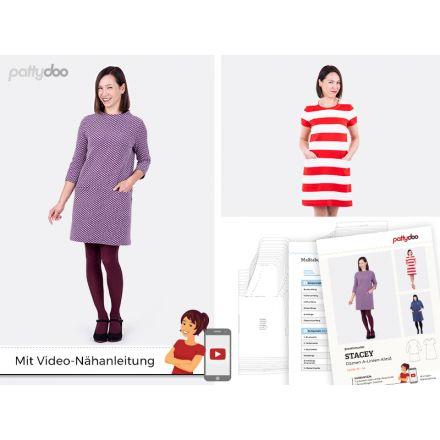 A-Linien-Kleid Stacey Papierschnittmuster
