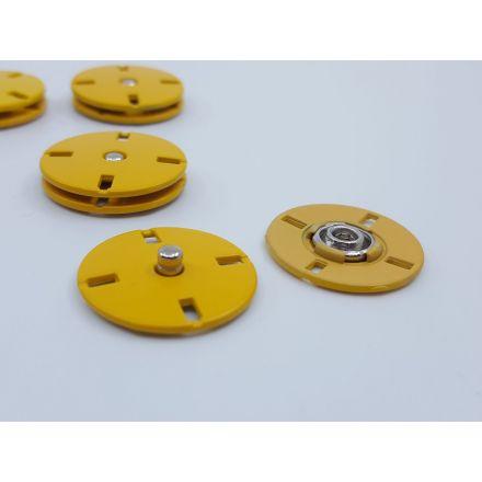Annähdruckknöpfe gelb 22mm