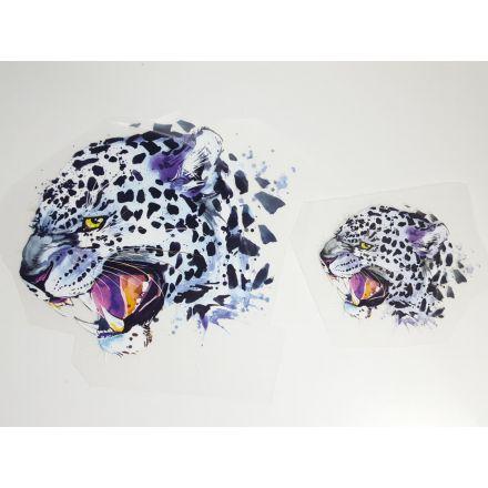 Bügelbild Leopard gross und klein