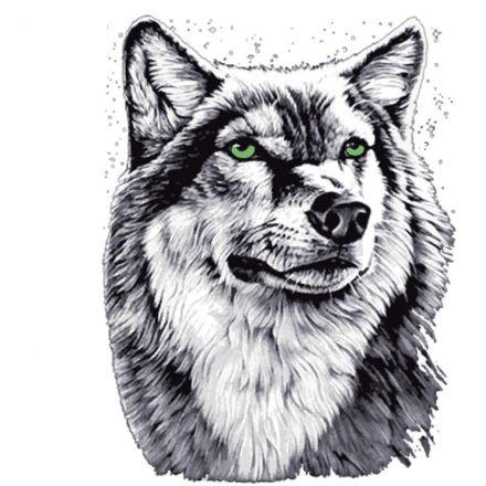 Bügelbild Wolf gross