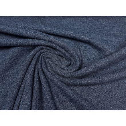 Bündchen Crop dunkelblau melange
