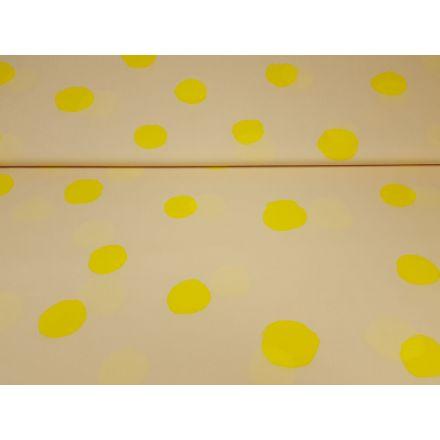 Baumwolltaft beige/gelb