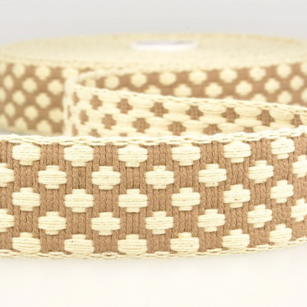 doppelseitiges Gurtband 40mm beige/ecru