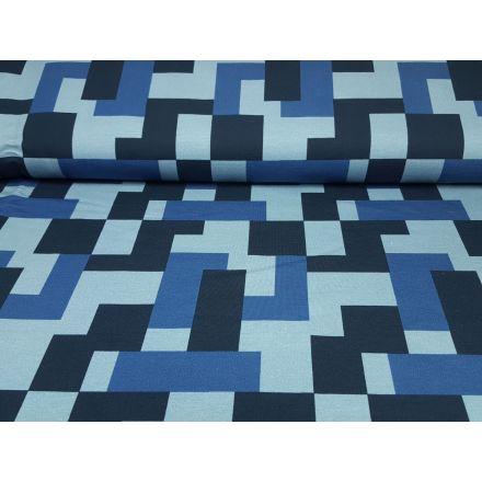 Big Pattern blau
