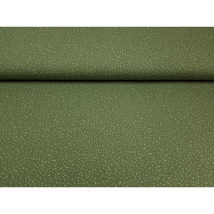 Bio-Baumwolljersey Spotties olive/lindengrün