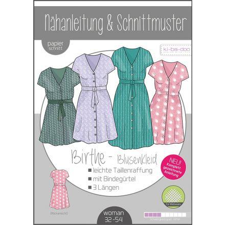 Birthe Blusenkleid Damen, Ki-ba-doo Papierschnittmuster