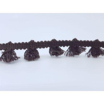 Boho Fransenband am Meter 15mm breit, braun