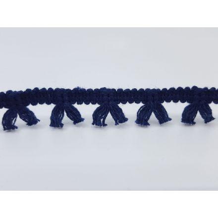Boho Fransenband am Meter 15mm breit, dunkelblau