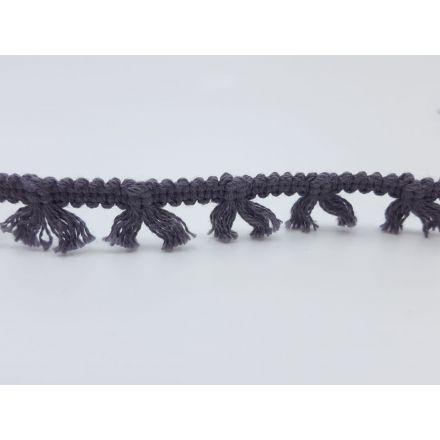 Boho Fransenband am Meter 15mm breit, dunkelgrau