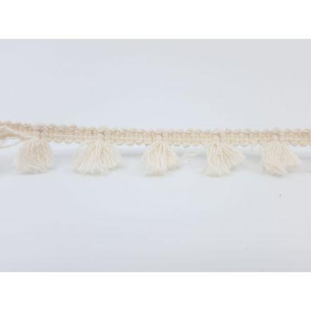 Boho Fransenband am Meter 15mm breit, ecru