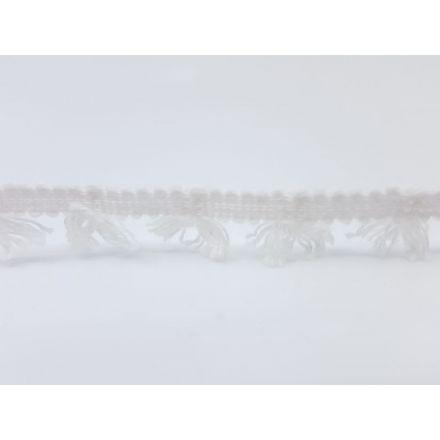 Boho Fransenband am Meter 15mm breit, weiss