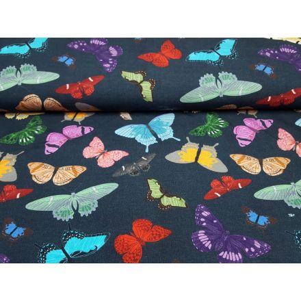 Butterfly nachtblau/türkis/gelb/pink