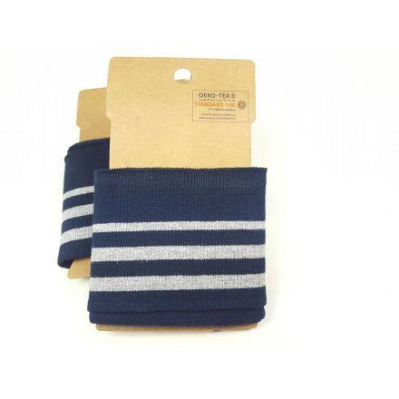 Cuff Bündchen dunkelblau/silber Lurex