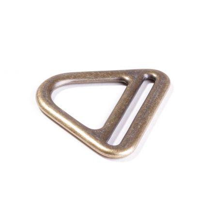 D Ring mit Steg messing für 40mm Gurtband