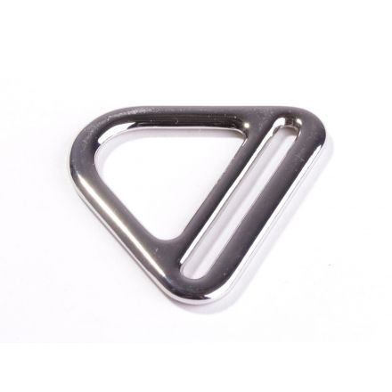 D Ring mit Steg silber glänzend für 40mm Gurtband