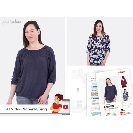 Damenshirt & Bluse Carmen Schnittmuster