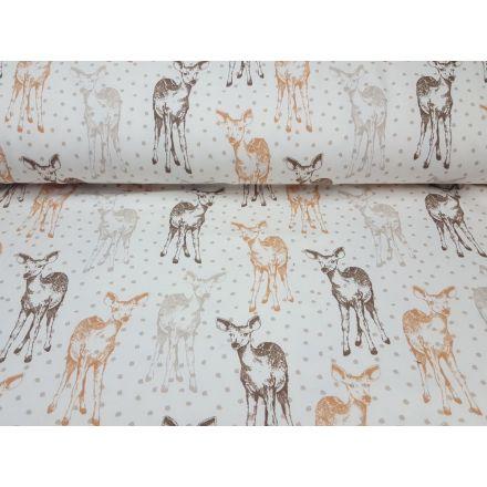 Deer offwhite/beige/braun/fuchsbraun