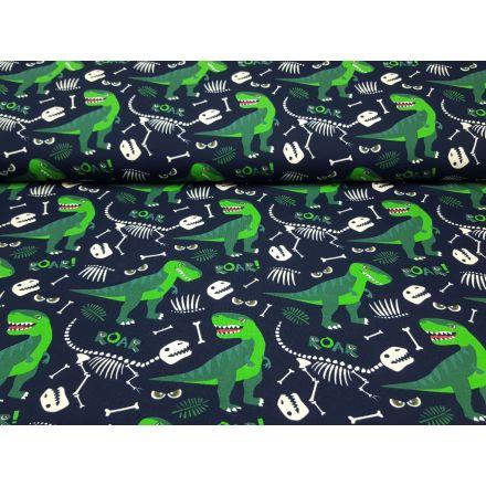 Dino nachtblau/grün/ecru