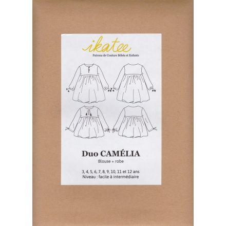 Duo Camélia Bluse und Kleid für Kinder, Ikatee Papierschnittmuster