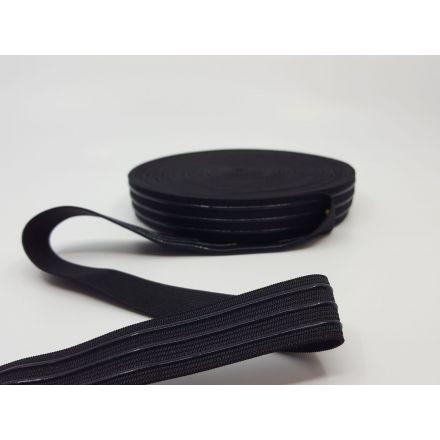 Elastic-Silikon Band weich 25mm schwarz
