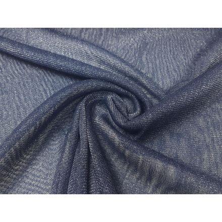 elastischer Tüll nachtblau/silber