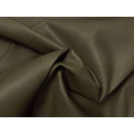 elastisches Kunstleder mit feiner Struktur khaki