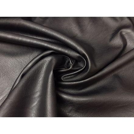 elastisches Kunstleder mit feiner Struktur schwarz