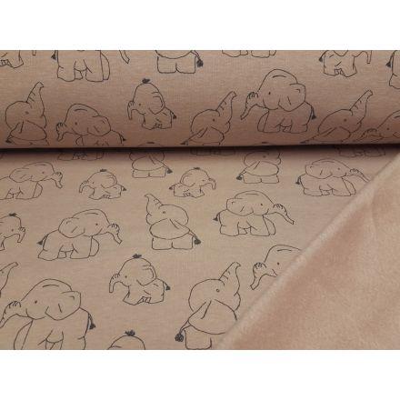 Alpenfleece Elephants altrosa melange/grau
