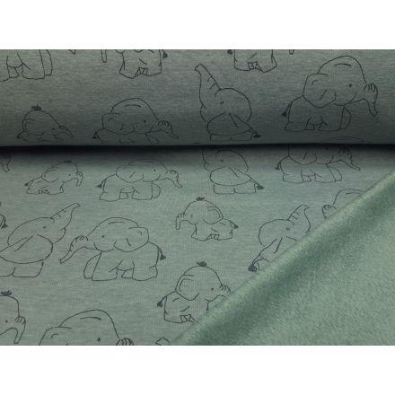 Alpenfleece Elephants dustymint melange/grau