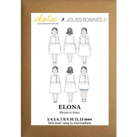 Elona Bluse und Dress für Kinder, Ikatee Papierschnittmuster