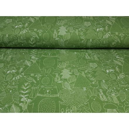 Forrest Animal grasgrün/offwhite