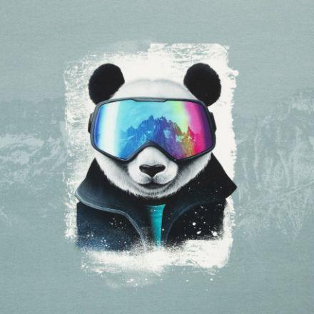 Snow Panda blaugrau/weiss/petrol