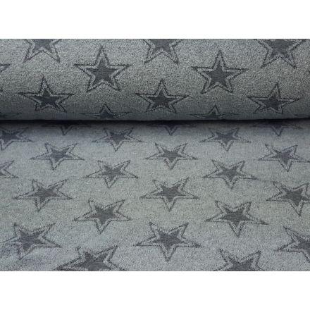 Frottee Sterne graublau