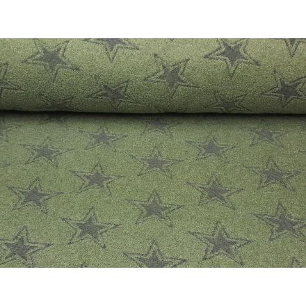 Frottee Sterne olive