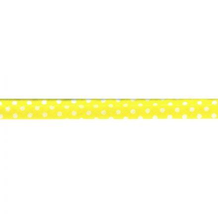 gepunktete Paspel Zitronengelb/weiss