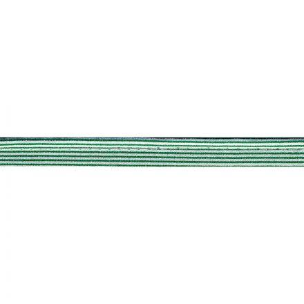 gestreifte Paspel grün/weiss