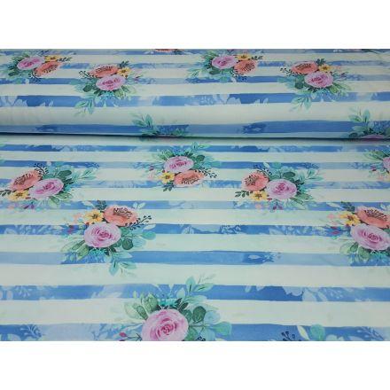 Girls Stripes mint/blau/bunt