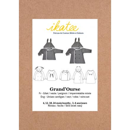 Grand `Ourse Cardigan für Kinder, Ikatee Papierschnittmuster