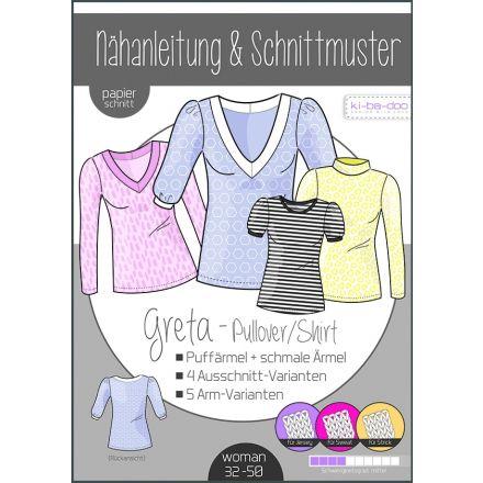 Greta Shirt/Pulli Damen, Ki-ba-doo Papierschnittmuster