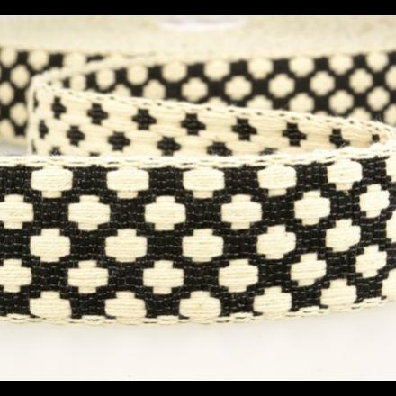 doppelseitiges Gurtband 40mm schwarz/ecru