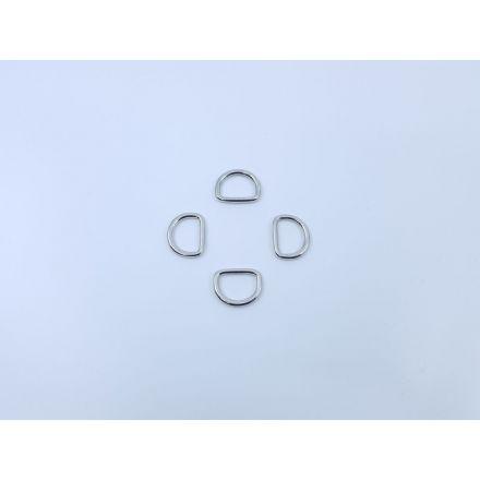 Halbrund-Ringe messing für 30mm Gurtband