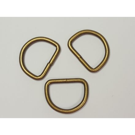 Halbrund-Ringe altmessing für 25mm Gurtband
