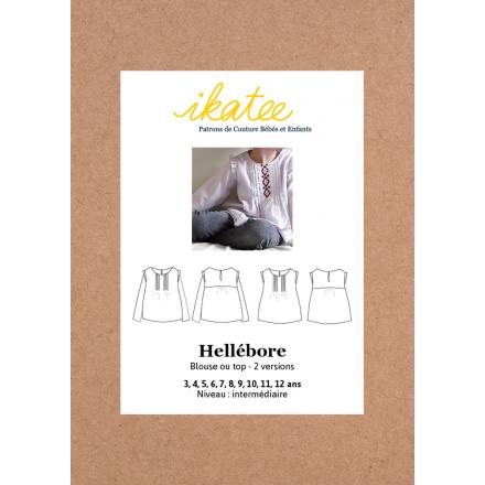 Hellébore Bluse und Top für Kinder, Ikatee Papierschnittmuster