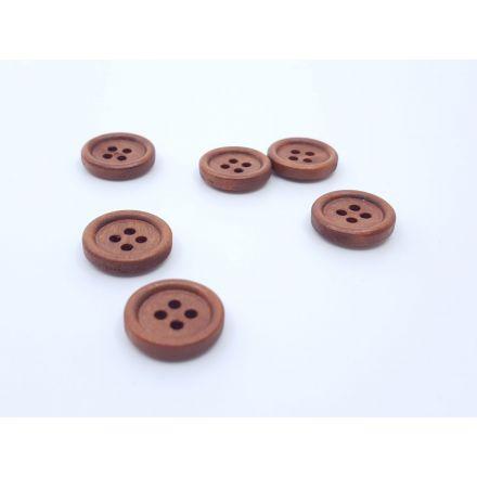 Holzknöpfe braun 11mm
